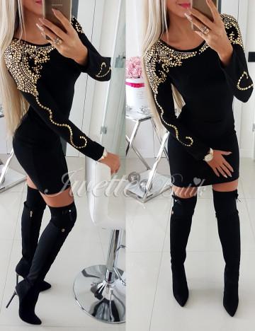 Sukienka Sweterkowa Złote Dżety II - 1 Jakość