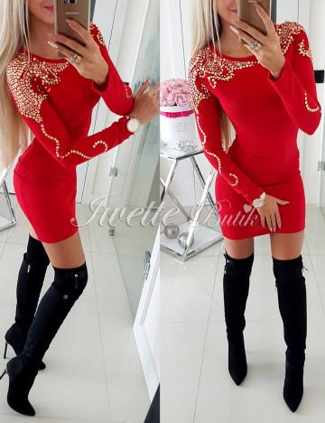 Sukienka Sweterkowa Złote Dżety - 1 Jakość