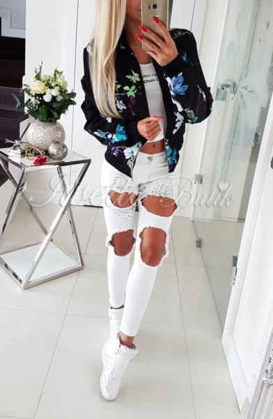 Jeansy BiałePerełki Paris Collection ♥