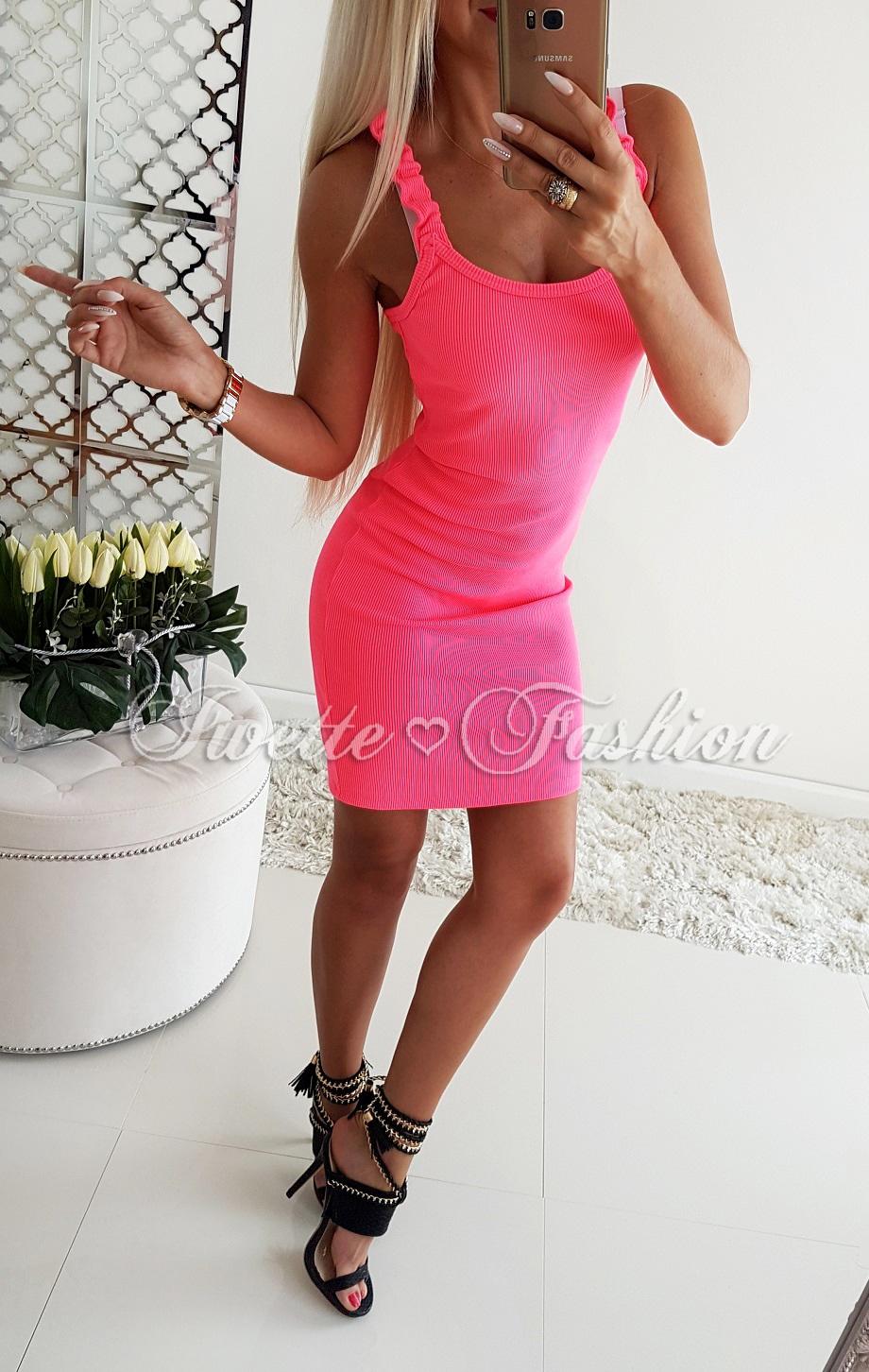 e327843a25 Sportowa Sukienka Neonowa ♥ - Sukienki   Tuniki