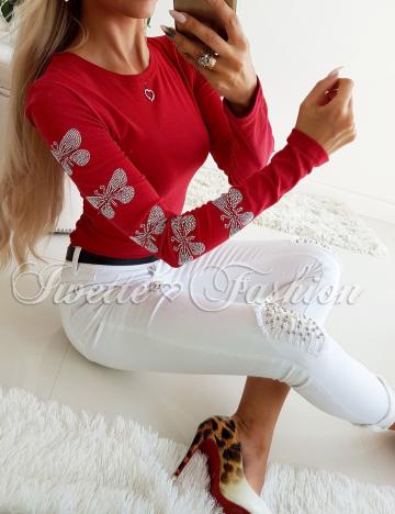 Bluzka Bordo z Cyrkoniami II ♥