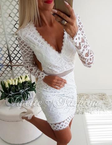 Biała Koronkowa Sukienka Paris 2♥