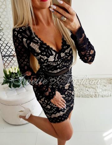 Czarna Koronkowa Sukienka Paris 3♥