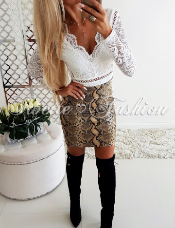 Spódnica Eko Skóra Print♥