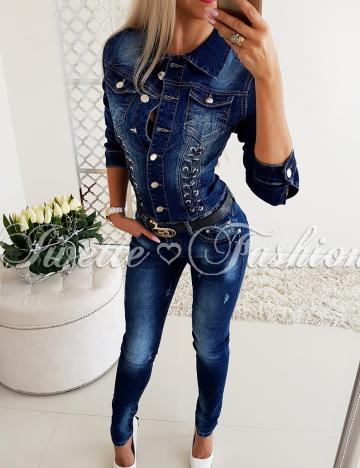 Jeansowy Kombinezon Paris Collection ♥