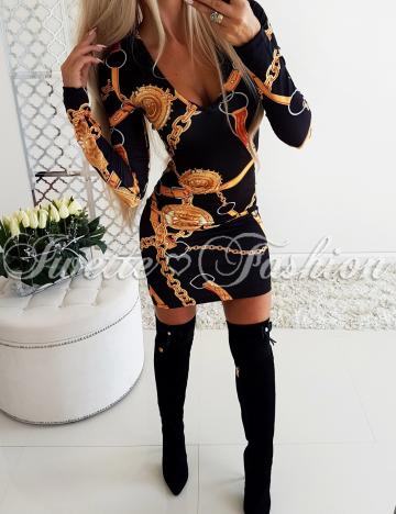 Sukienka Idealnie Dopasowana Print
