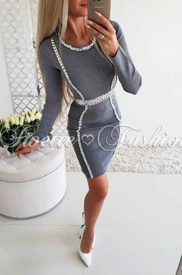 Sukienka Srebrne Dżety