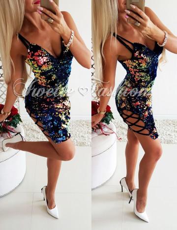 Sukienka Cekiny Colours na ramiączkach II