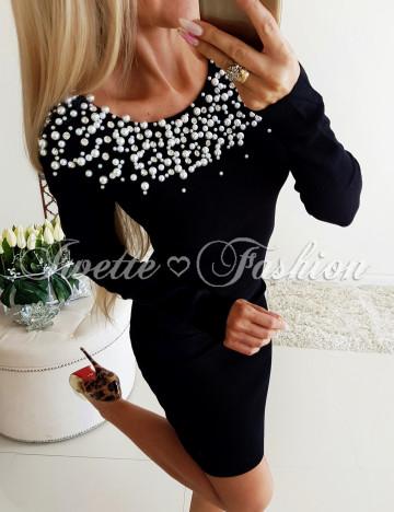 Sukienka Perełki i Cyrkonie Czerń Paris III ♥