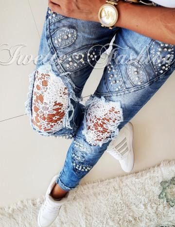 Spodnie Jeans Koronka Paris II ♥