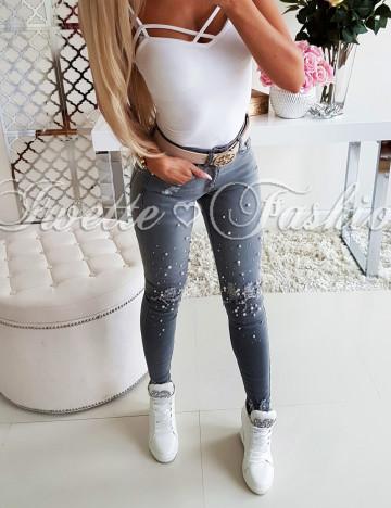 Spodnie Jeans Perełki Paris IV ♥