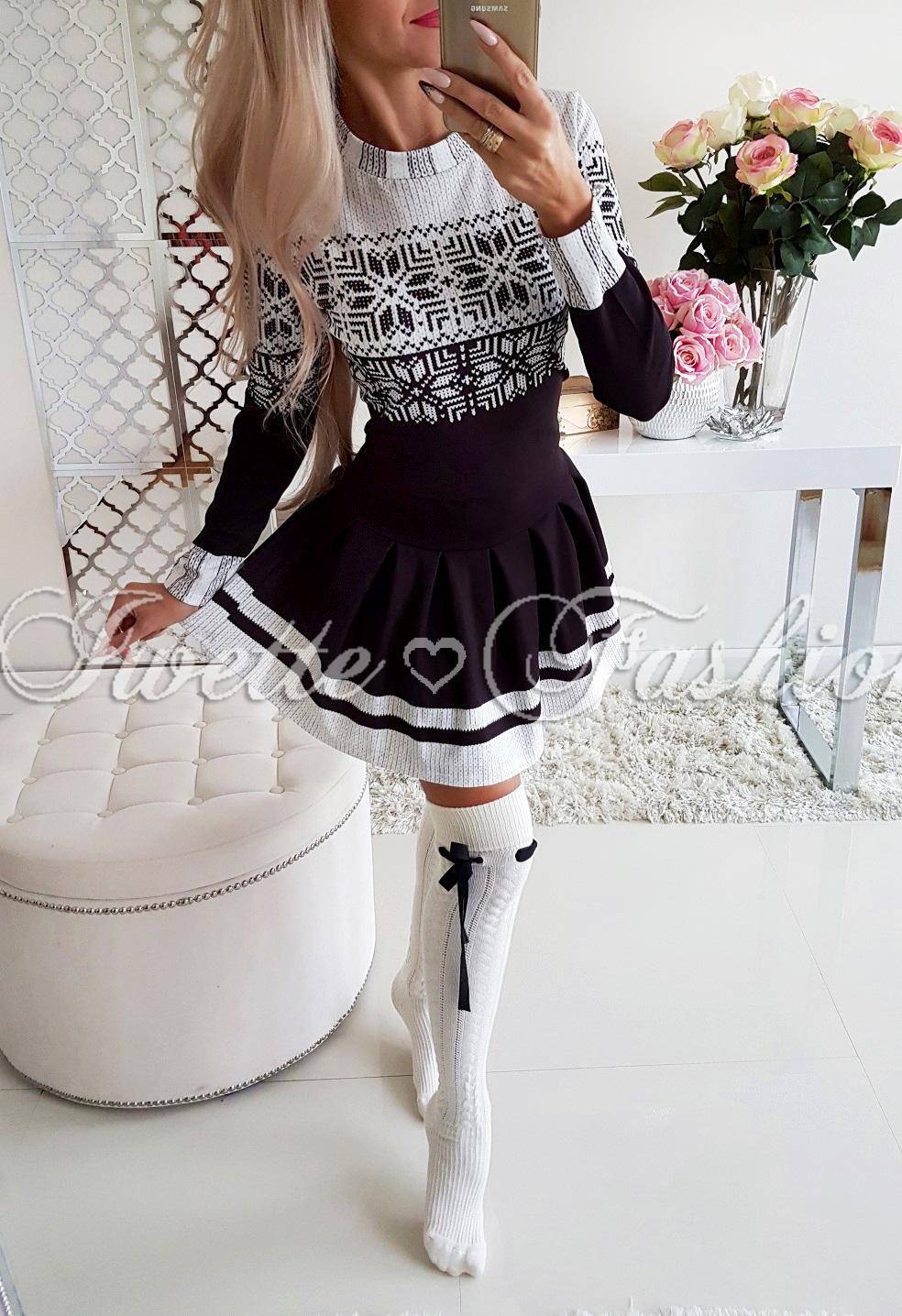 accae09af0 Sukienka Świąteczna Rozkloszowana Black - Sukienki   Tuniki ...