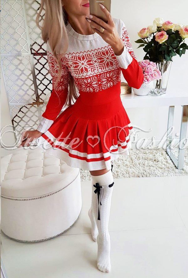 8fc95087dc Sukienka Świąteczna Rozkloszowana RED - Sukienki   Tuniki