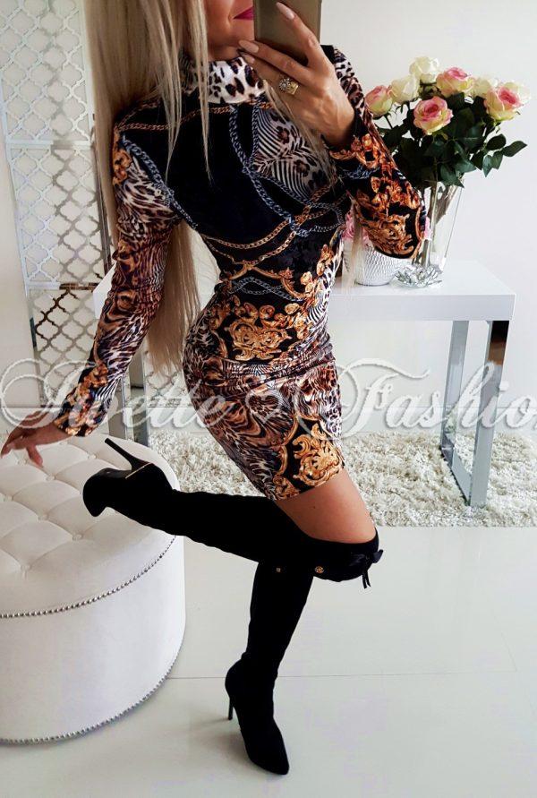 Sukienka Welur Panther