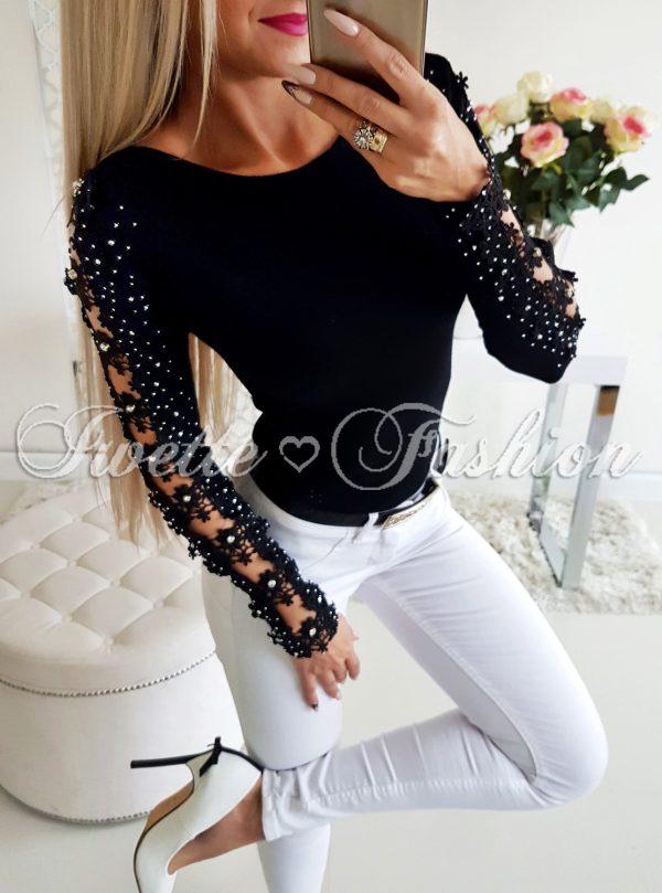Sweterek Rosy z Cyrkoniami - Black♥