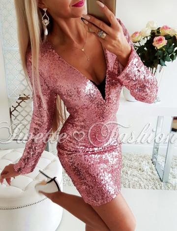 Sukienka EdithCekiny Pink