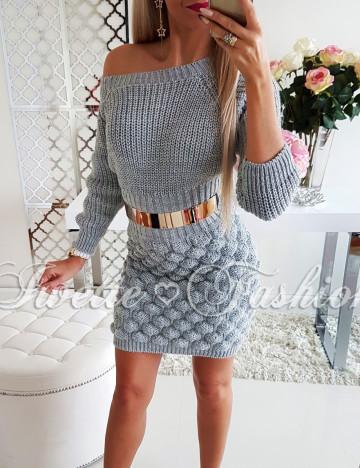Sukienka Warkocze Gray II ♥