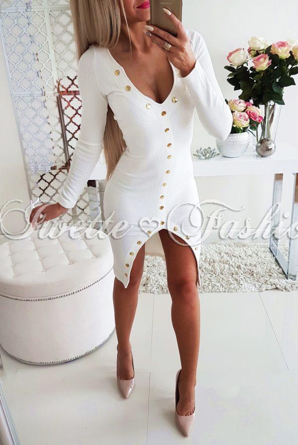 Sukienka Złote Guziki White
