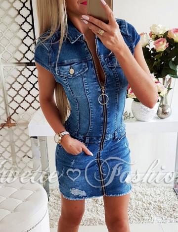 Sukienka Jeans ZIP Paris