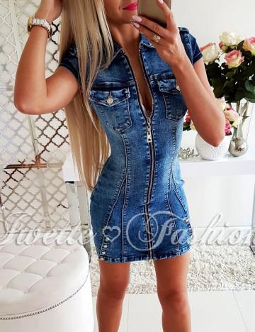 Sukienka Jeans ZIP Ćwieki - 1 Jakość