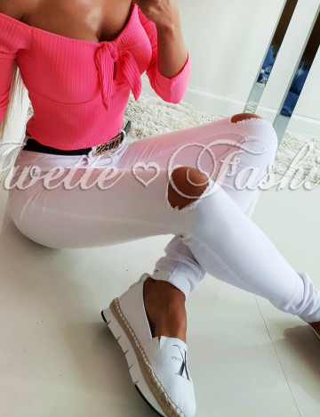 Spodnie White Paris Collection