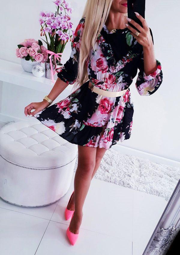 Sukienka Flowers Czerń