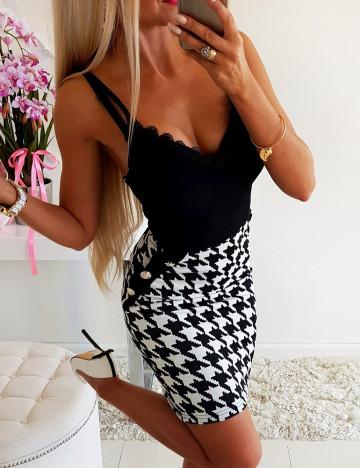 Sukienka Złote Guziki Black&White