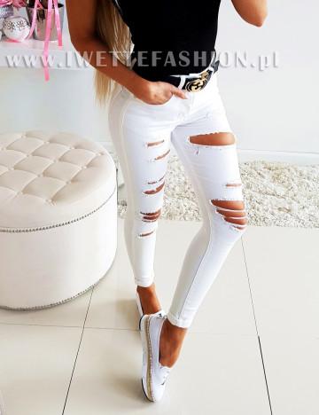 Spodnie Jeans White