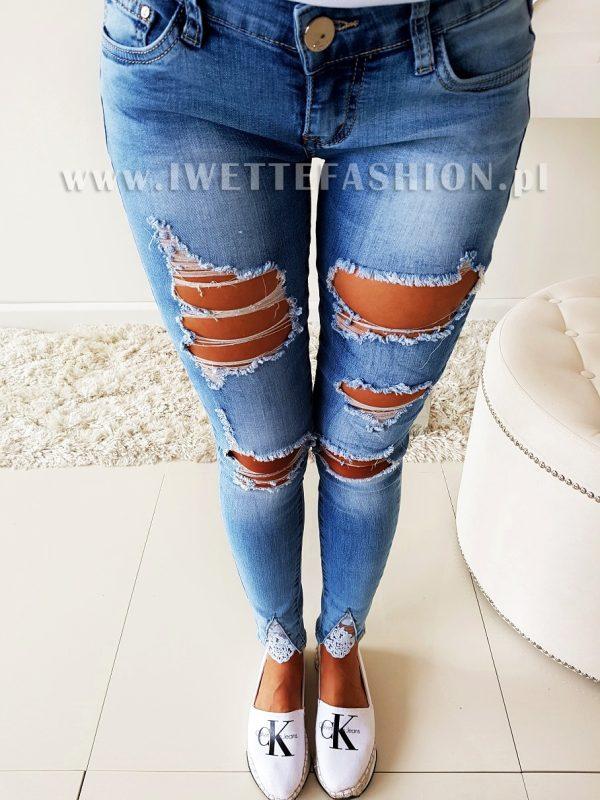 Spodnie Jeans Dziury