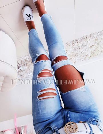 Spodnie Jeans Dziury Paris