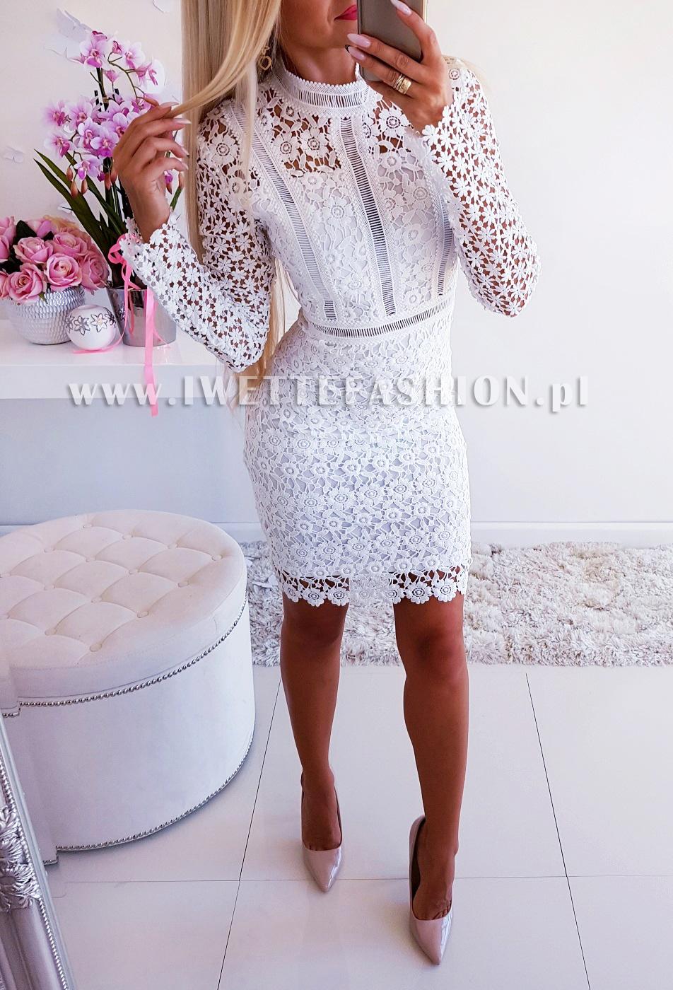 4eb1f101f0a4f9 Sukienka Koronkowa Mandy White - Nowości, Sukienki / Tuniki, Mini ...