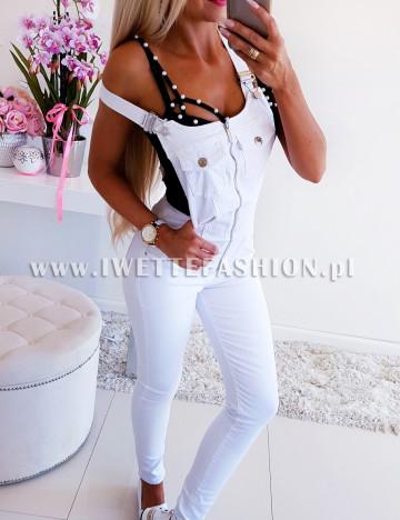 Ogrodniczki White Jeans