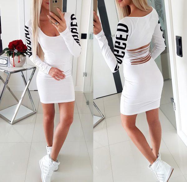 Sukienka Cięta Biel