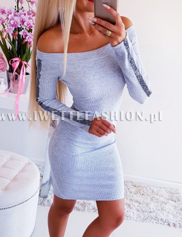 Sukienka Gray z Lampasem