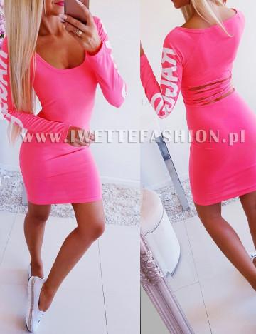 Sukienka Cięta Pink