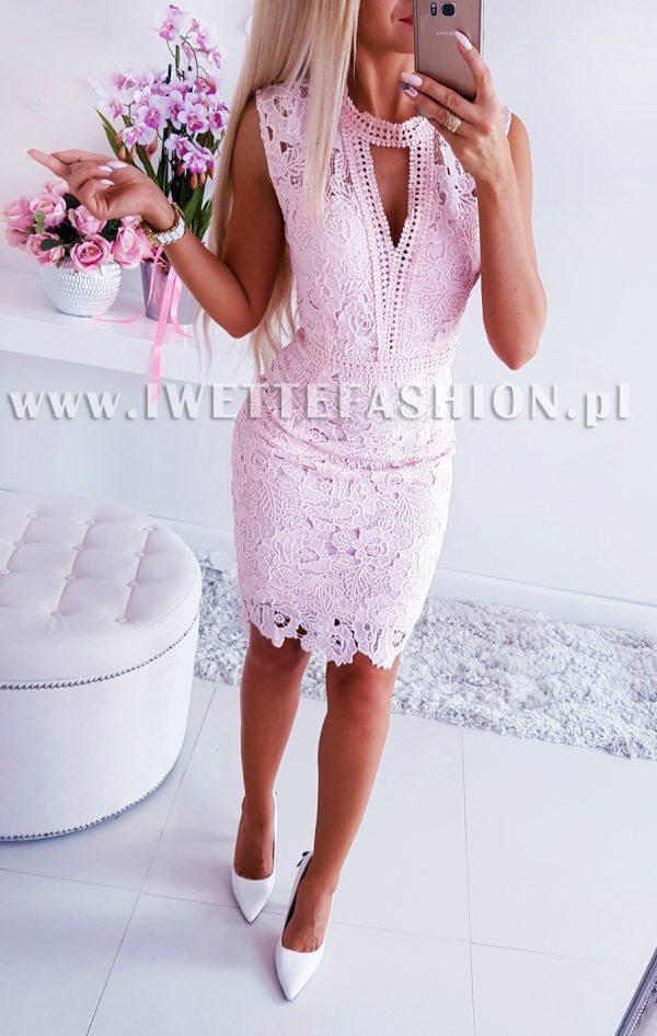 Sukienka Koronkowa Crystal Puder