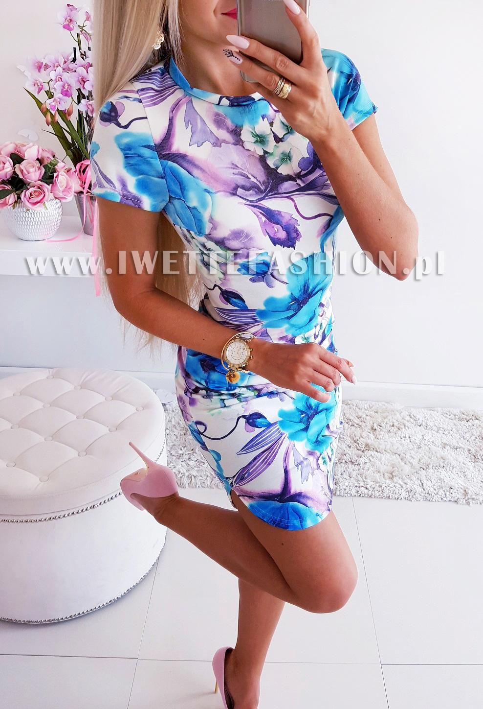 Платье  Flowers Blue