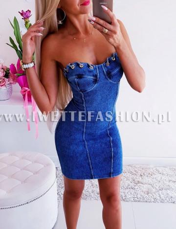 Sukienka Jeans Produkt Polski