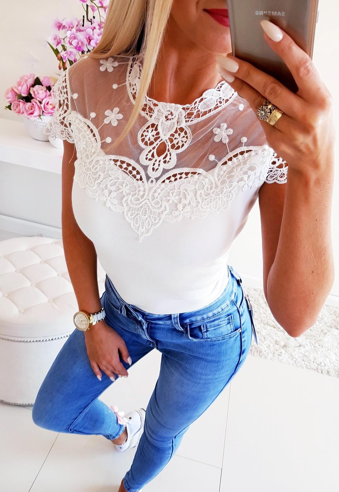 Блузка Koronkowa White