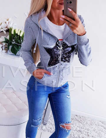 Bluza Star ZIP Gray