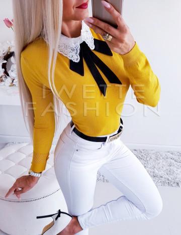 Sweterek Kołnierz Yellow