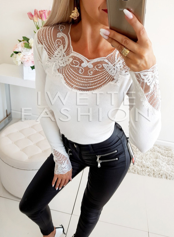 Sweter Butterfly White