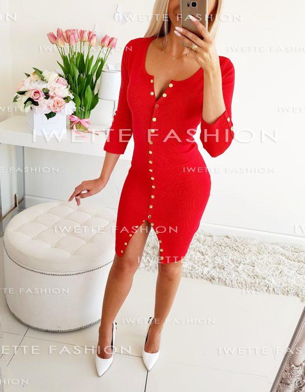 Sukienka Satin Czerwień