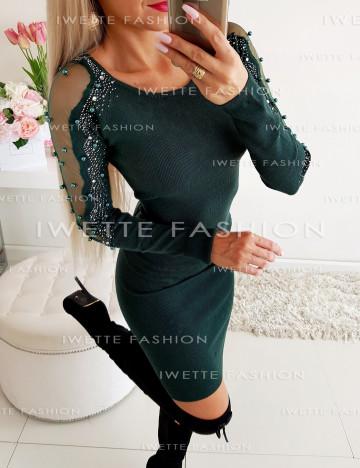 Sukienka SweterkowaZieleń