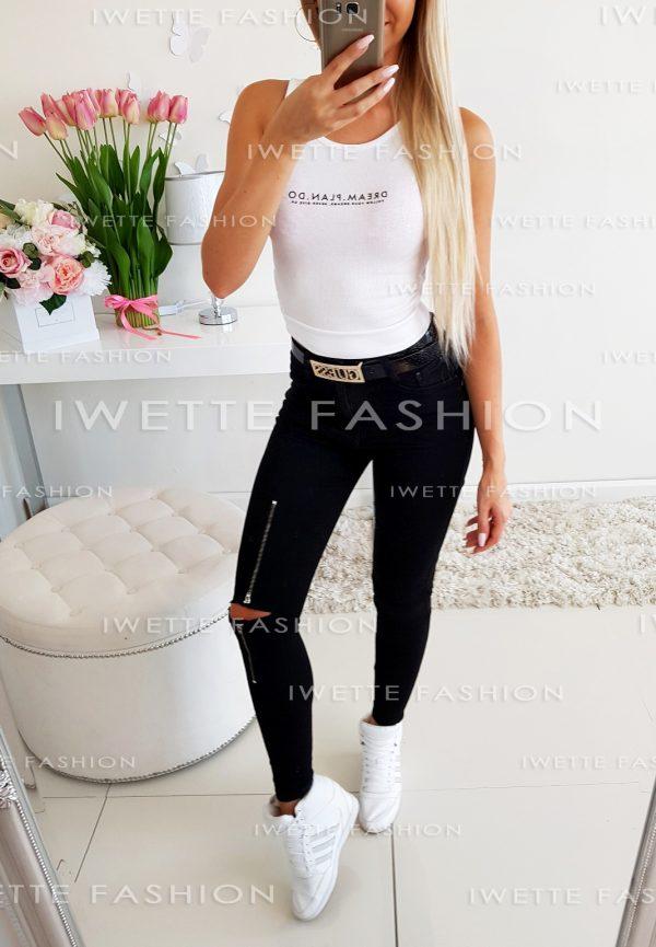 Spodnie Jeans ZIP Black