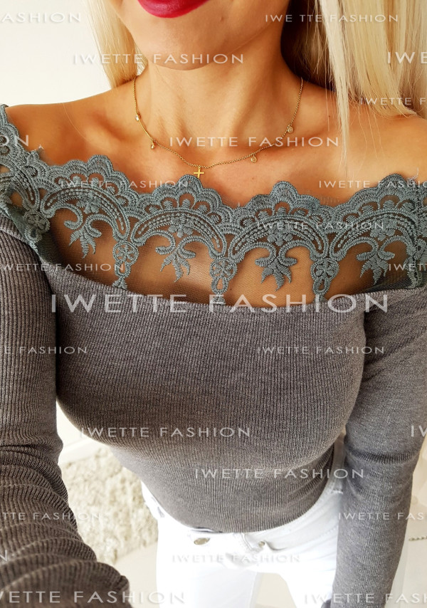 Sweterek Carmen Gray