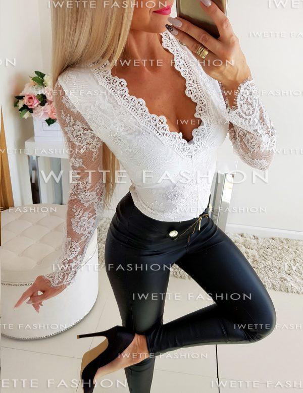 Body Koronka Paris White
