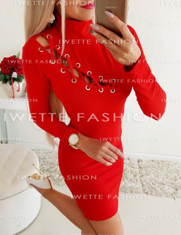Sukienka Wiązana Czerwień