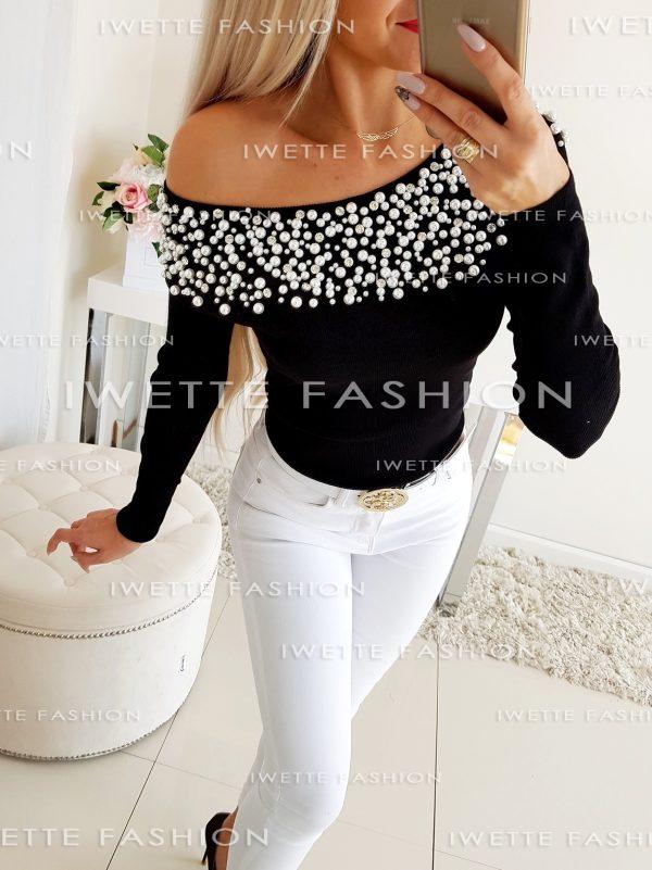 Sweterek Pearls Black