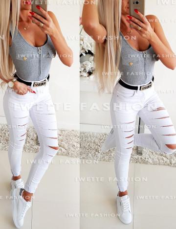 Spodnie Jeans White [569]